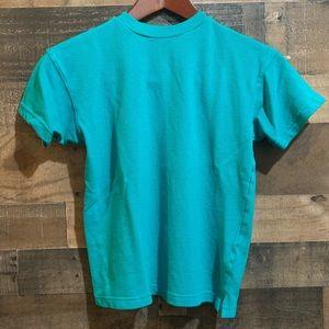 ❤️3/$20 Vintage 90s Clean Clothes Teal T Shirt